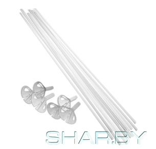 Комплект палочка и зажим (100 шт) белый