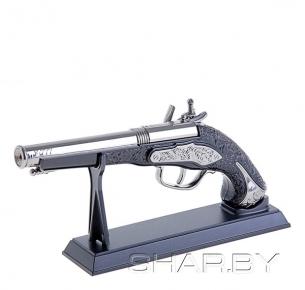 Зажигалка сувенирная пистолет с гравировкой