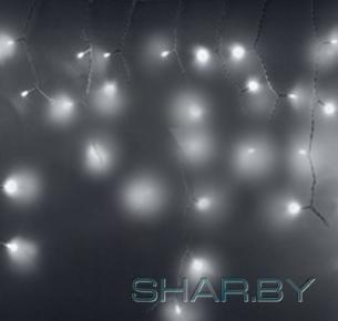 Гирлянда Айсикл (бахрома) светодиодный, 2,4х0,6м, эффект мерцания, диоды белые