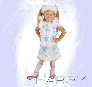 Новогодний костюм детский Снежинка белая
