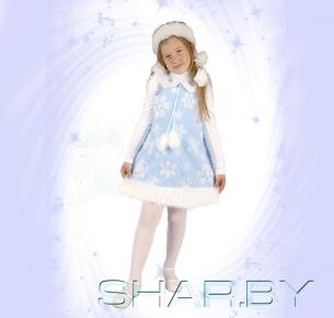 Новогодний костюм детский Снежинка голубая