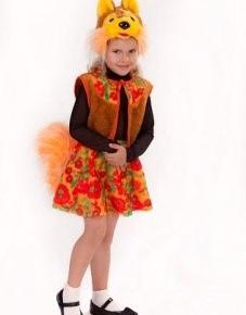 Новогодний костюм детский Белочка