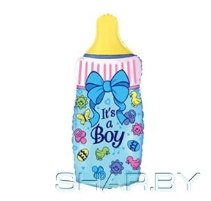 Бутылка голубая
