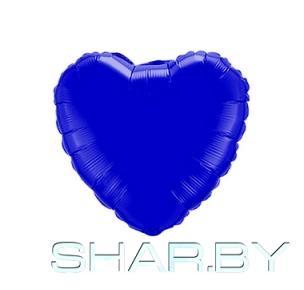 "4"" Сердце синее"