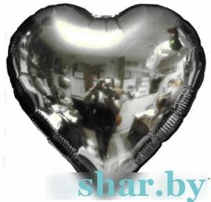 """18"""" Сердце серебряное"""