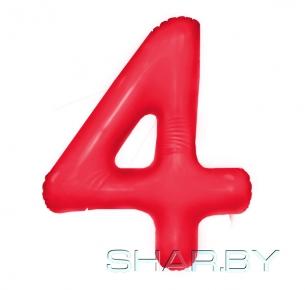 """Цифра """"4"""" Красная"""