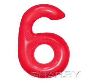 """Цифра """"6"""" Красная"""